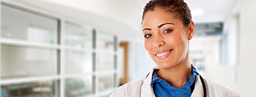 Nurse in a Netsmart Healthcare Professional Banner