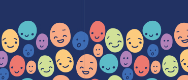 illustrated laughing faces for national lets laugh day